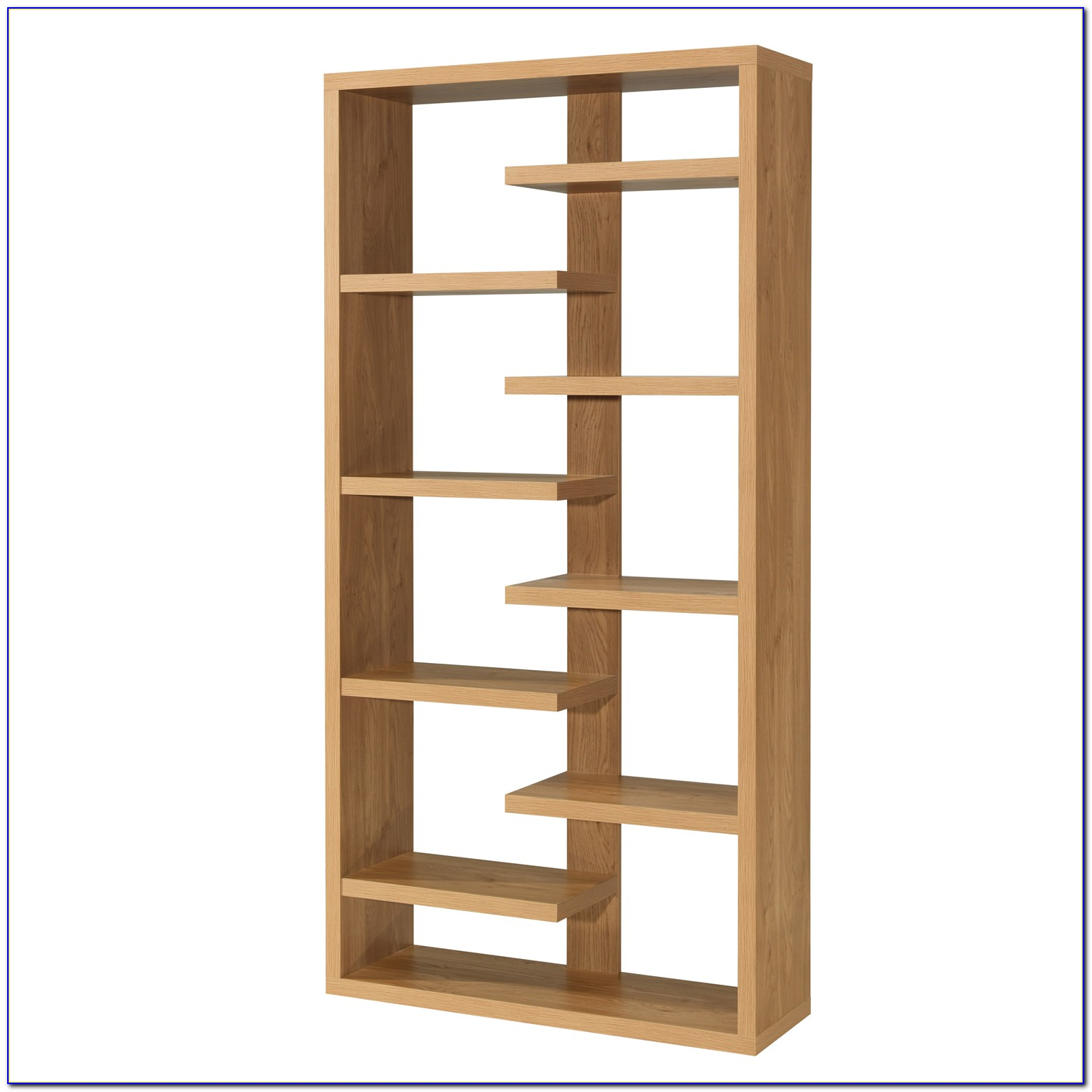 Brooklyn Contemporary Oak Library Bookcase
