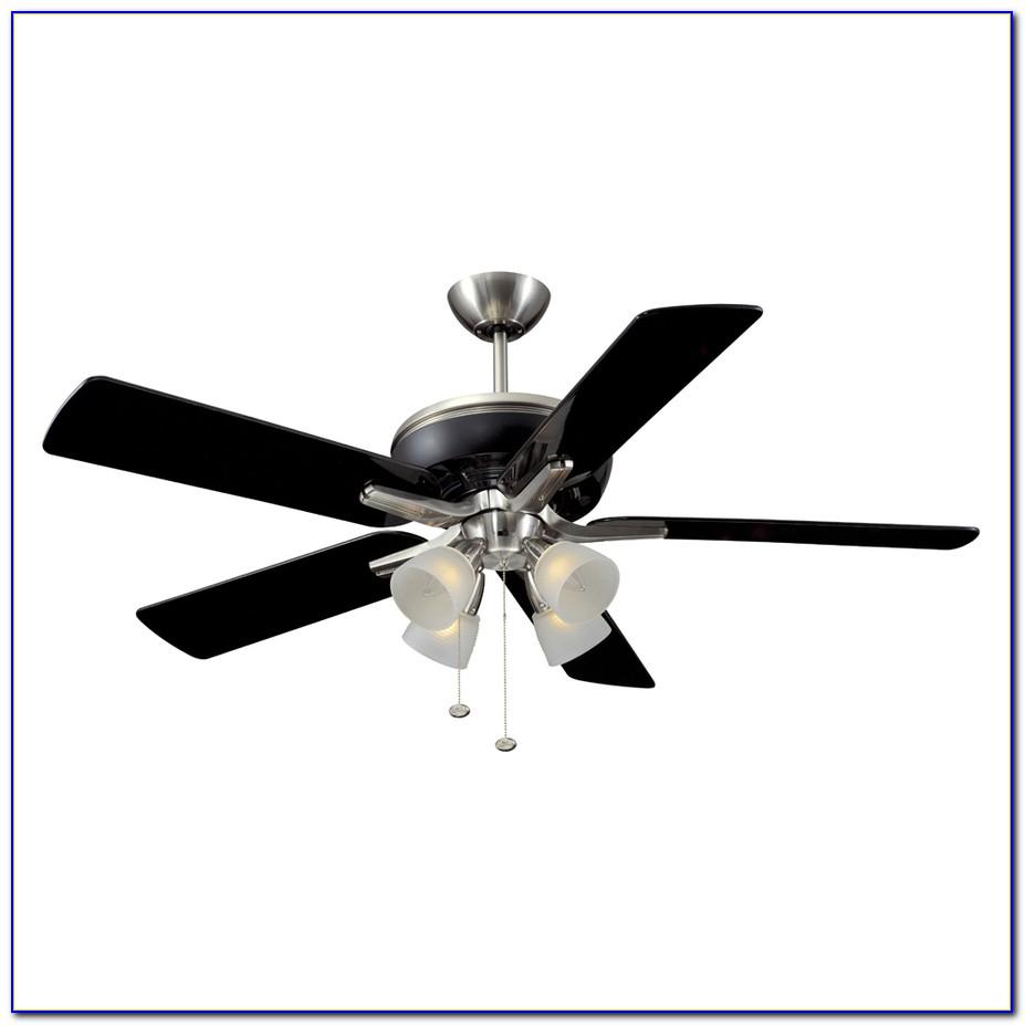 Brushed Nickel Ceiling Fan Black Blades