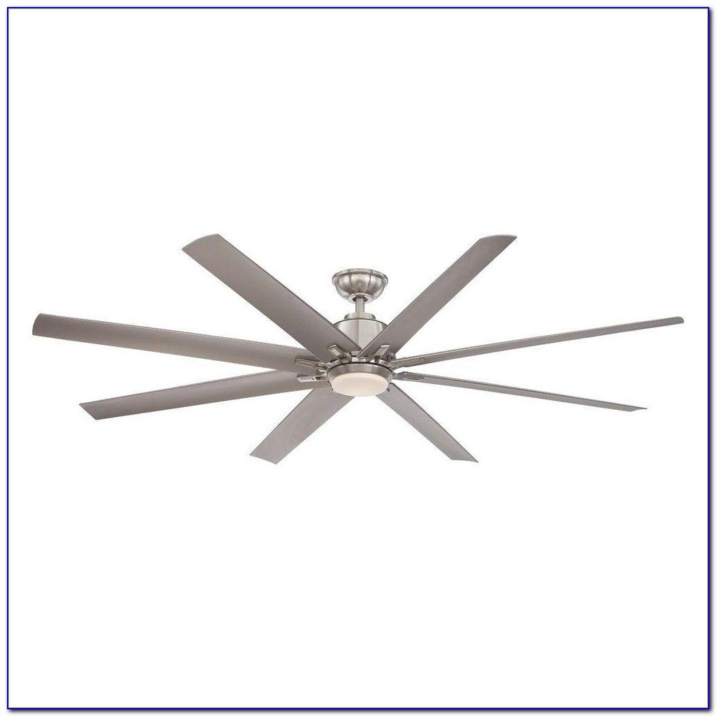 Brushed Nickel Ceiling Fan No Light