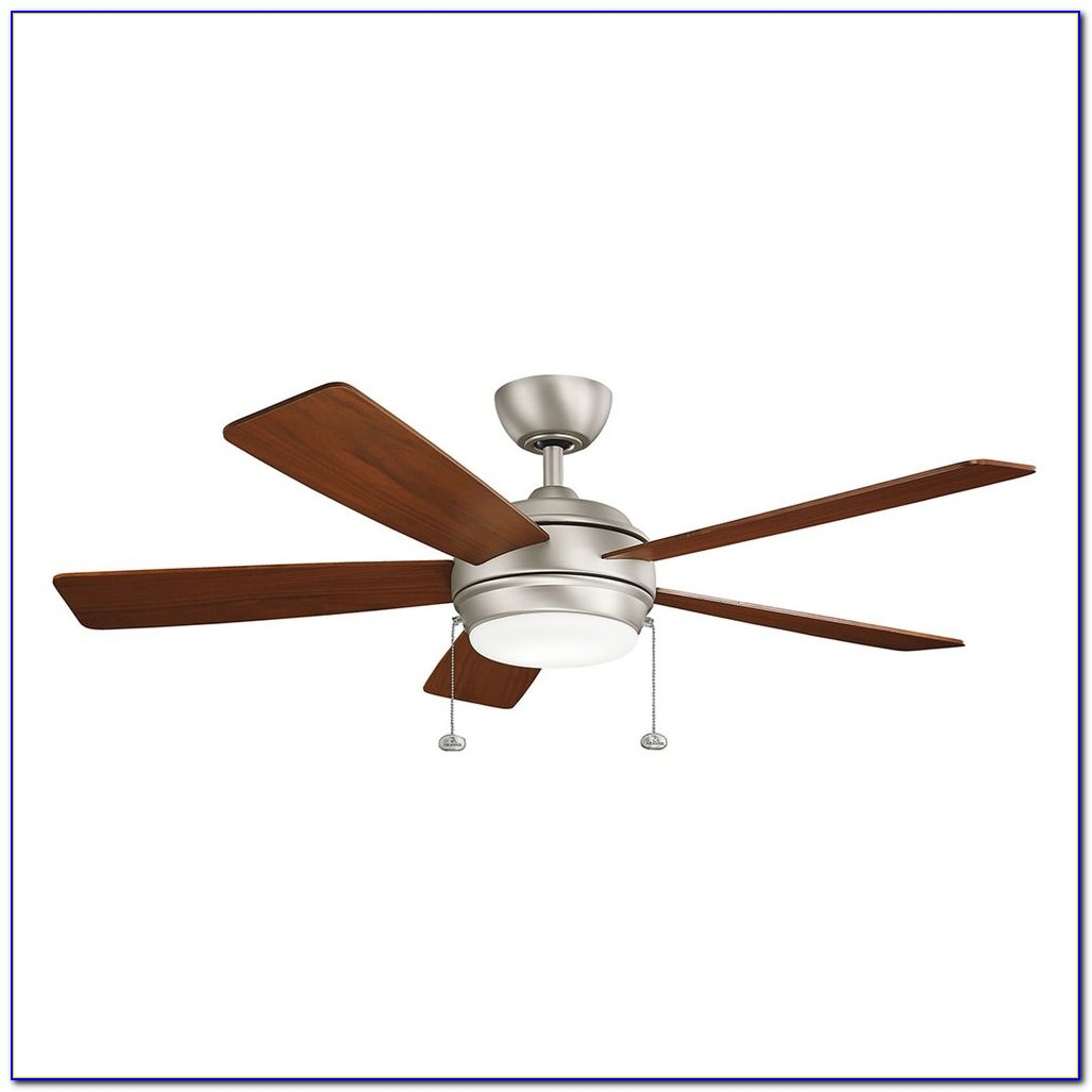 Brushed Nickel Ceiling Fan With Light Kit And Remote