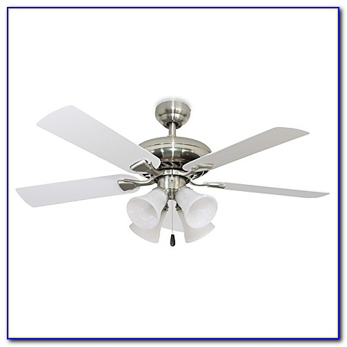 Brushed Nickel Ceiling Fan With Remote