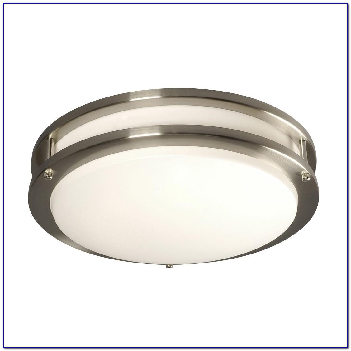 Brushed Nickel Ceiling Light Plate