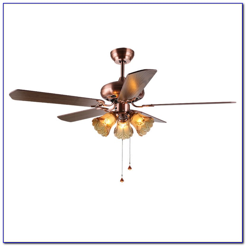 Brushed Nickel Flush Mount Ceiling Fan With Light