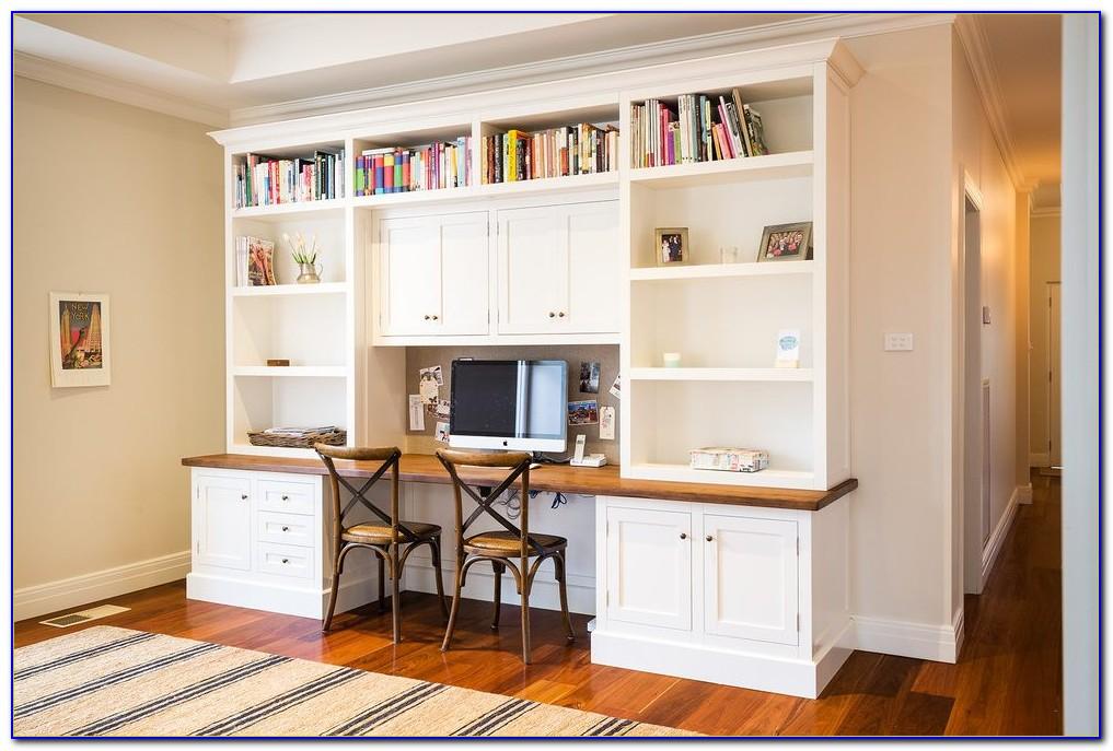 Built In Bookshelves With Desk