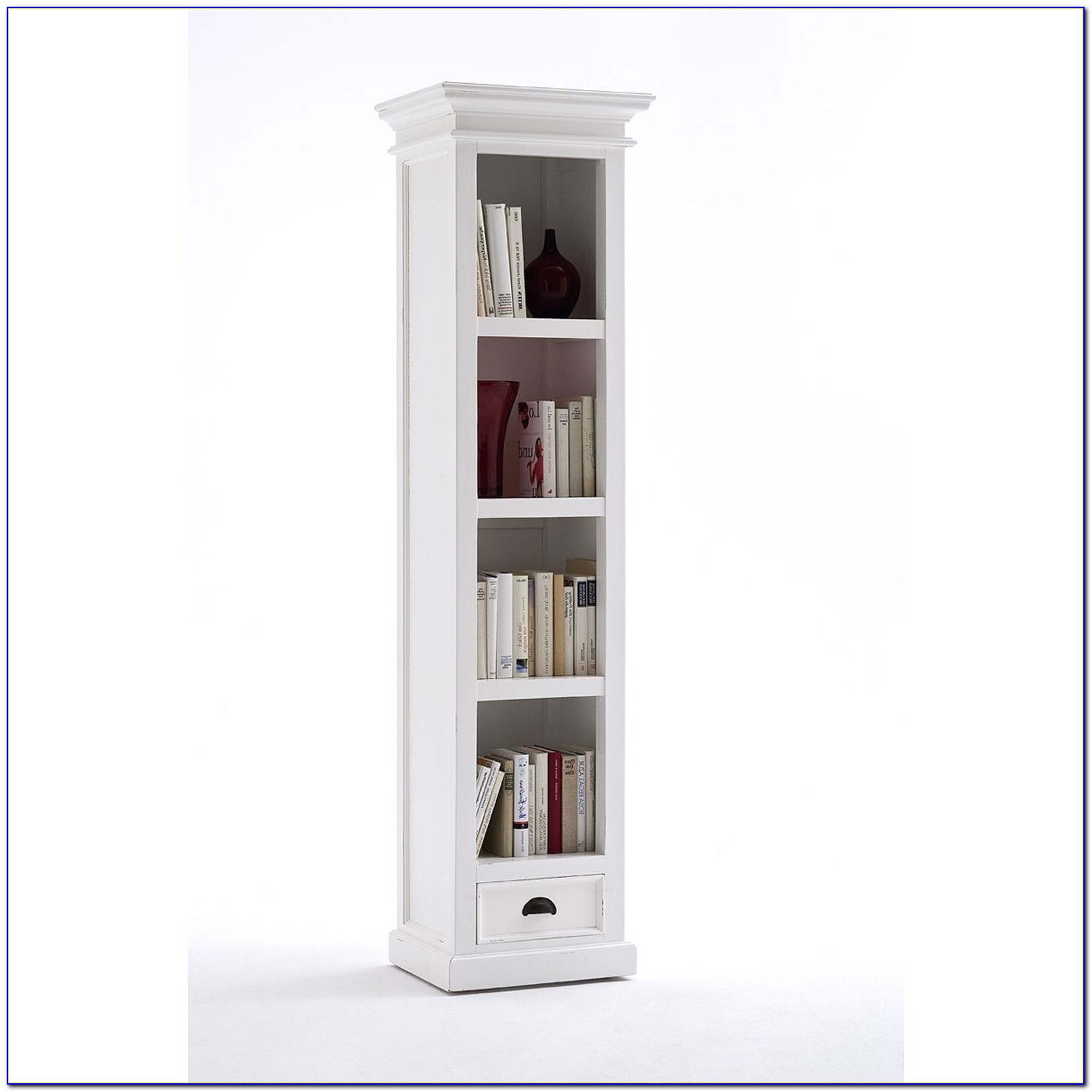 Calgary Solid Oak Small Bookcase With Glass Doors