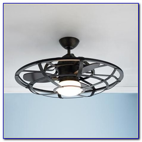 Ceiling Fan With Caged Blades