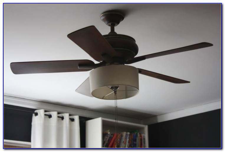 Ceiling Fan With Drum Shade Light Kit