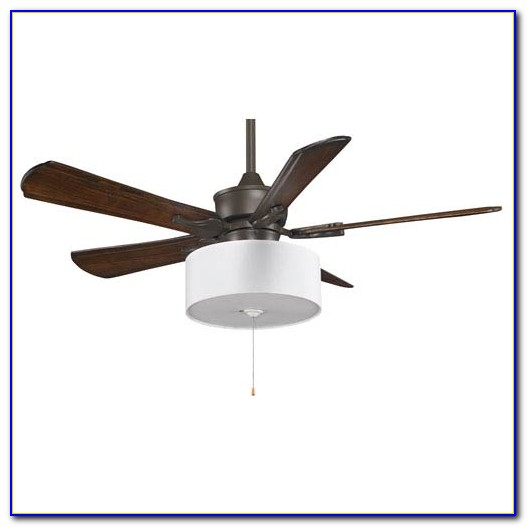 Ceiling Fan With Drum Shade Light