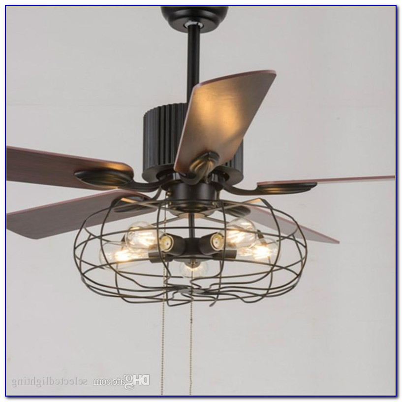 Ceiling Fan With Edison Light Bulbs