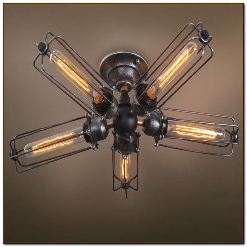 Ceiling Fan With Edison Lights
