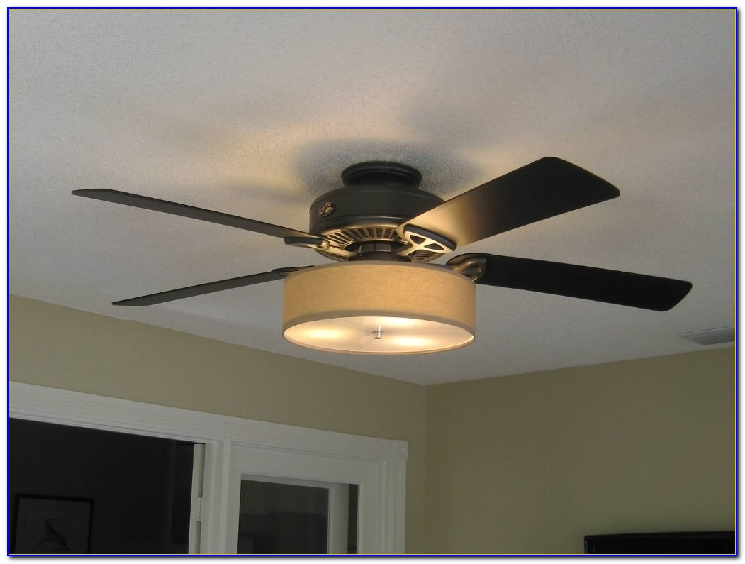 Ceiling Fan With Fabric Drum Shade
