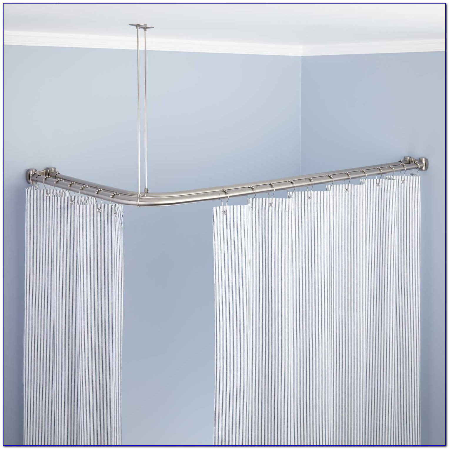 Ceiling Mounted Bay Window Curtain Rods