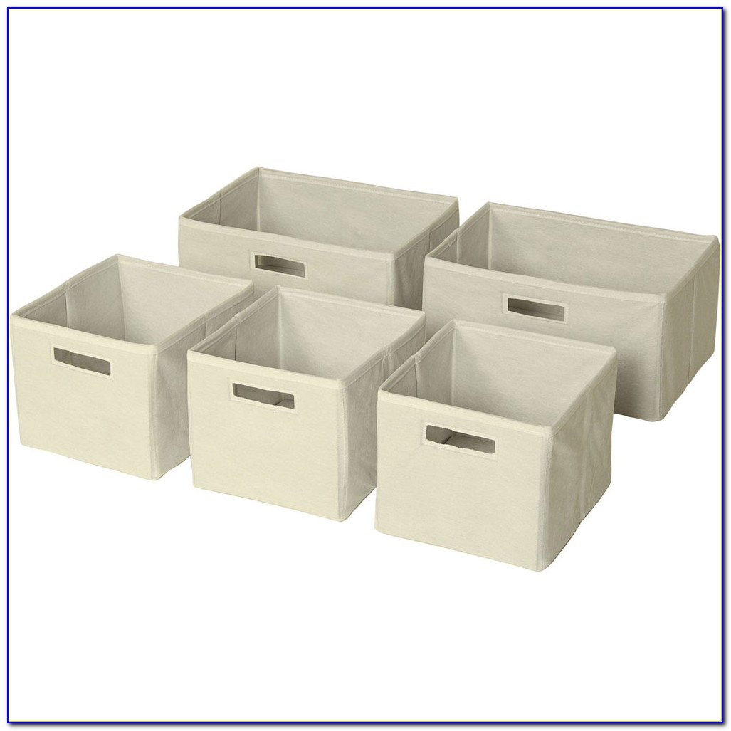 Children's Bookcase With Storage Bins White