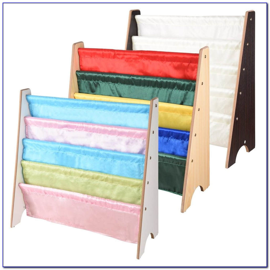 Childrens Wooden Sling Bookcase