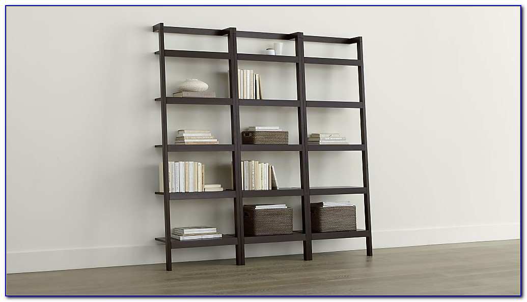 Container Store Linea Leaning Bookcase