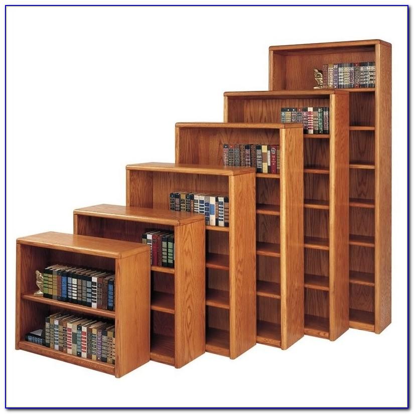Contemporary Solid Oak Bookcase