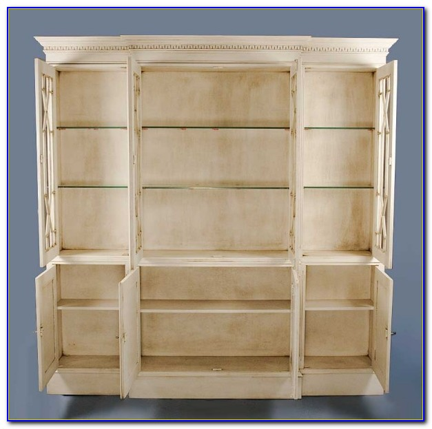 Corner Bookcase Antique White