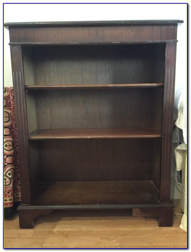 Corner Bookcase Dark Wood