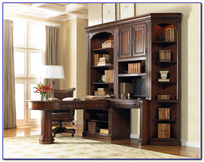 Desk With Bookcase Built In
