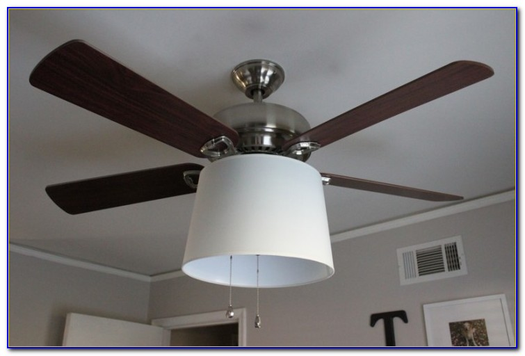 Diy Ceiling Fan With Drum Shade