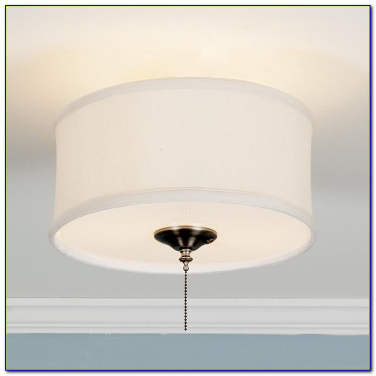 Drum Lamp Shade Ceiling Fan Light Kit