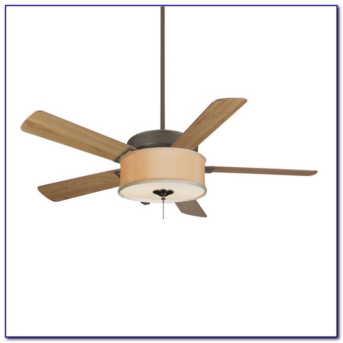Drum Shade Over Ceiling Fan Light