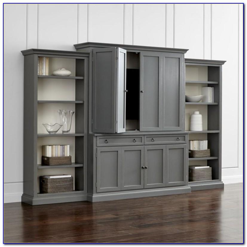Entertainment Unit With Bookshelf