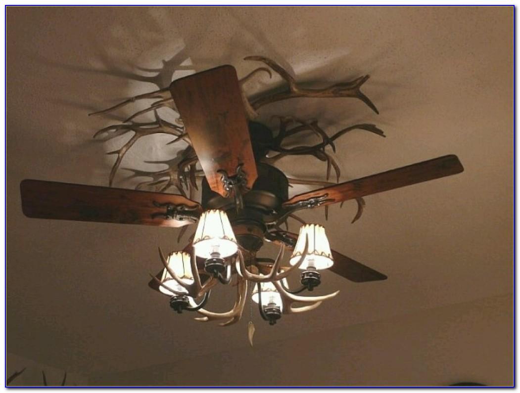 Faux Deer Antler Ceiling Fan