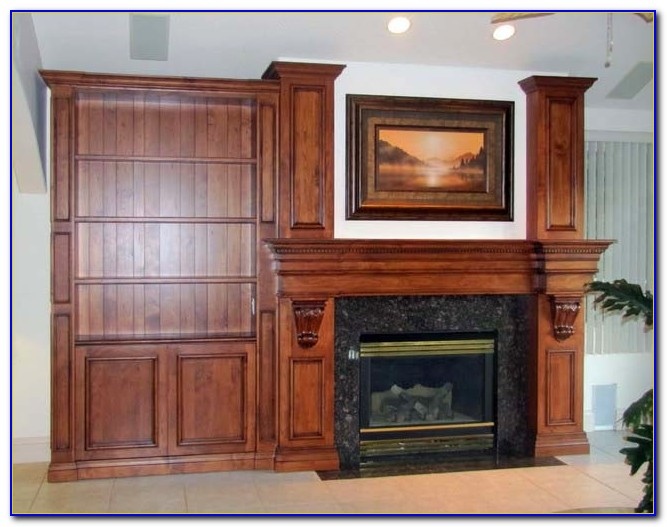 Fireplace Mantel Bookcase Designs