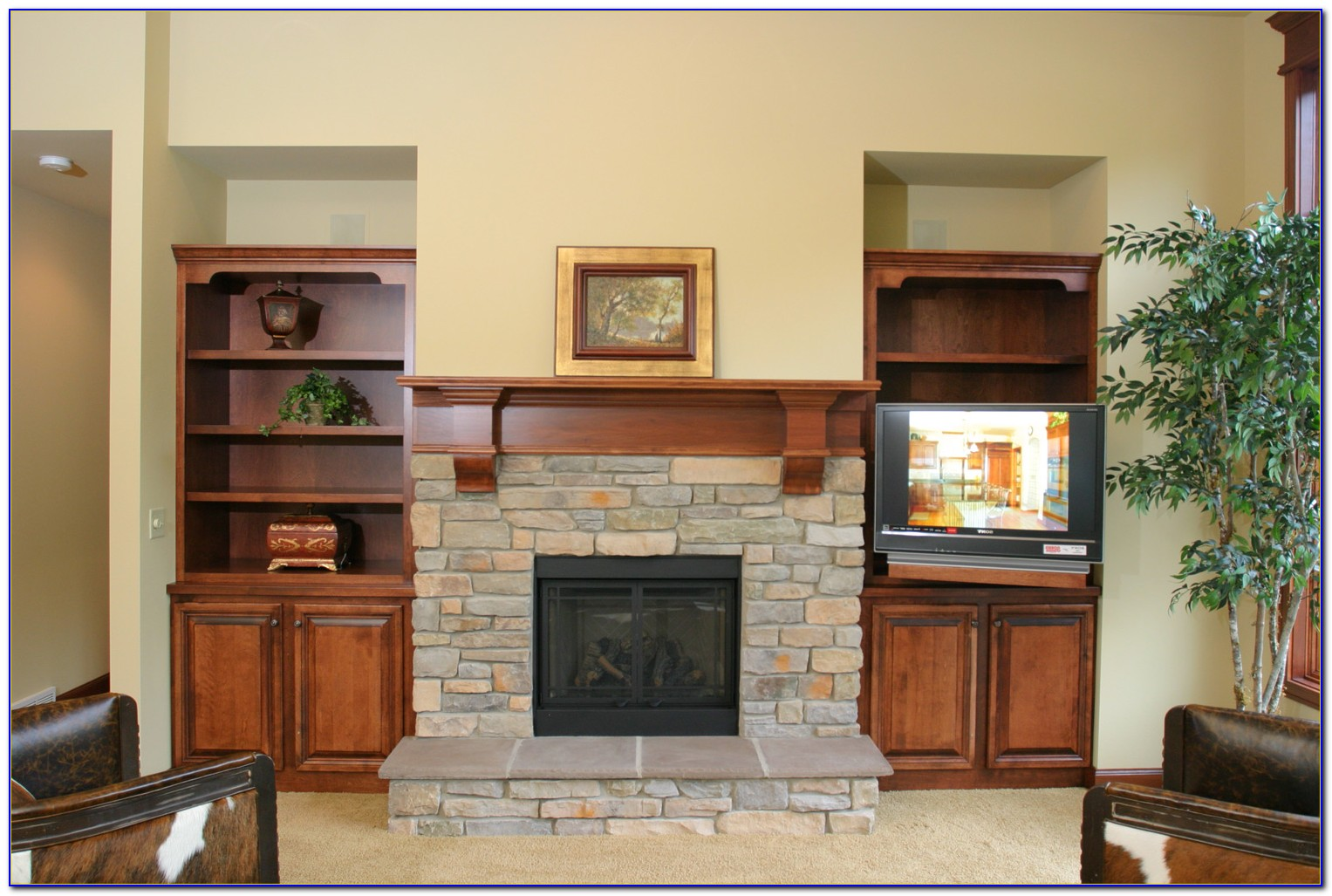 Fireplace Mantel Bookcase Ideas