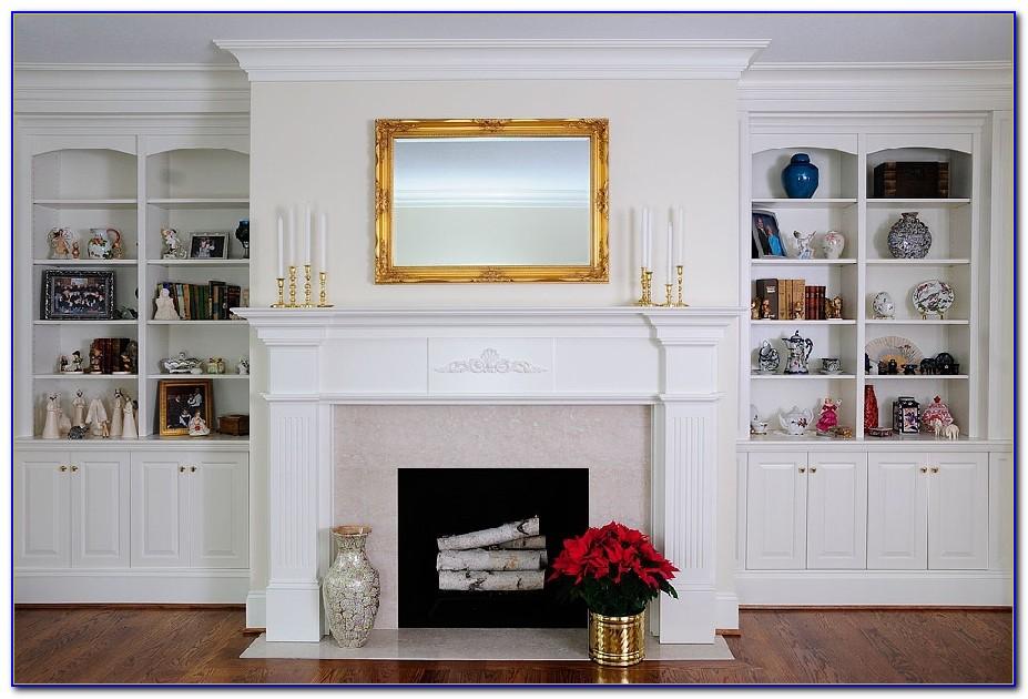 Fireplace Mantel Bookshelf Ideas