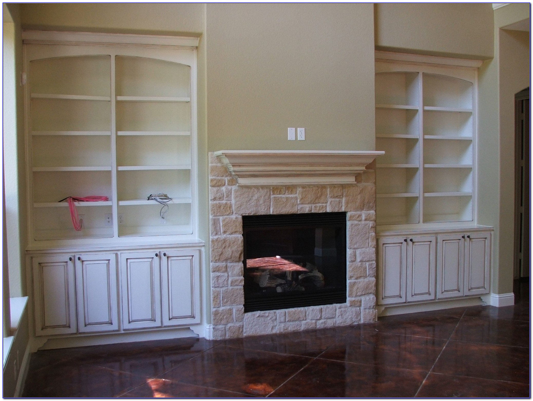 Fireplace Mantels With Built In Bookcases
