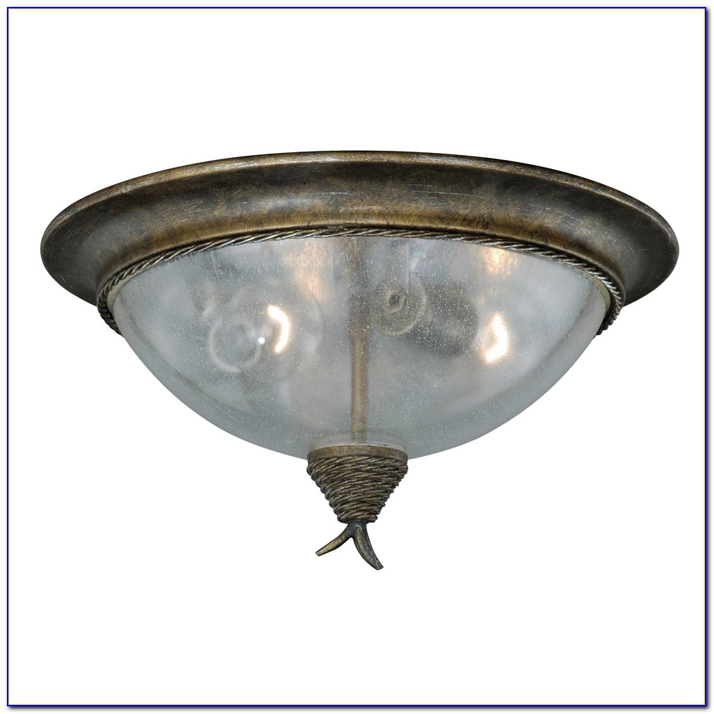 Flush Mount Ceiling Light With Pull Chain
