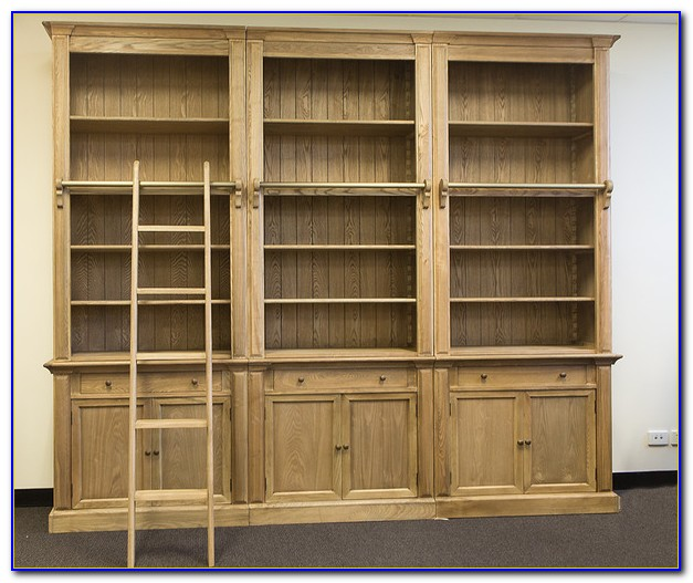 French Provincial Library Bookcase With Ladder