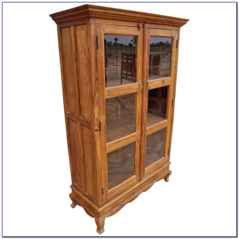Glass And Wood Bookshelf