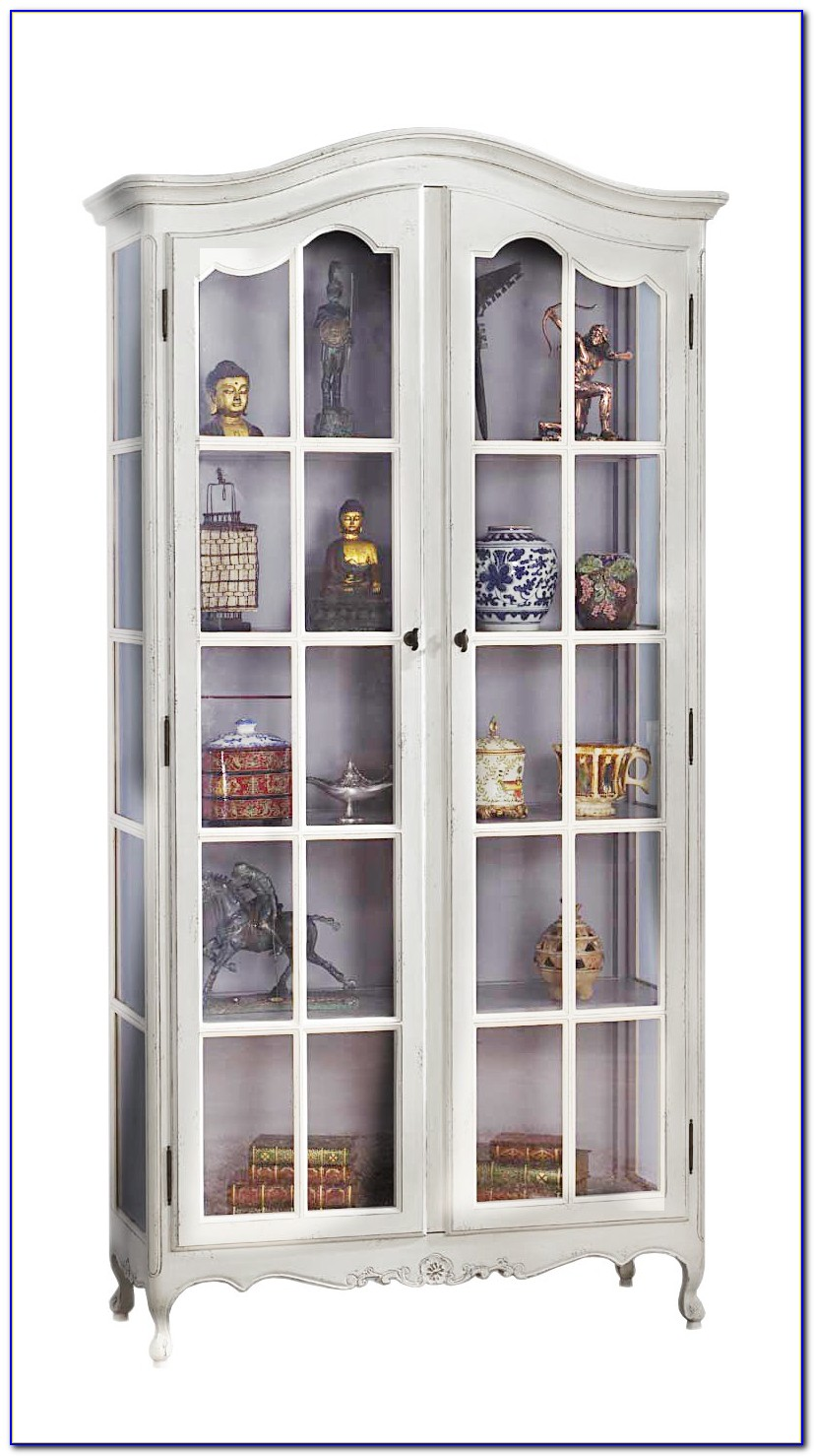Glass Bookcase Cabinet