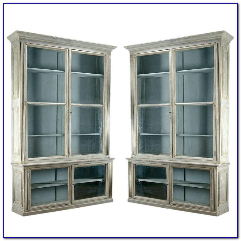 Glass Bookshelf With Doors