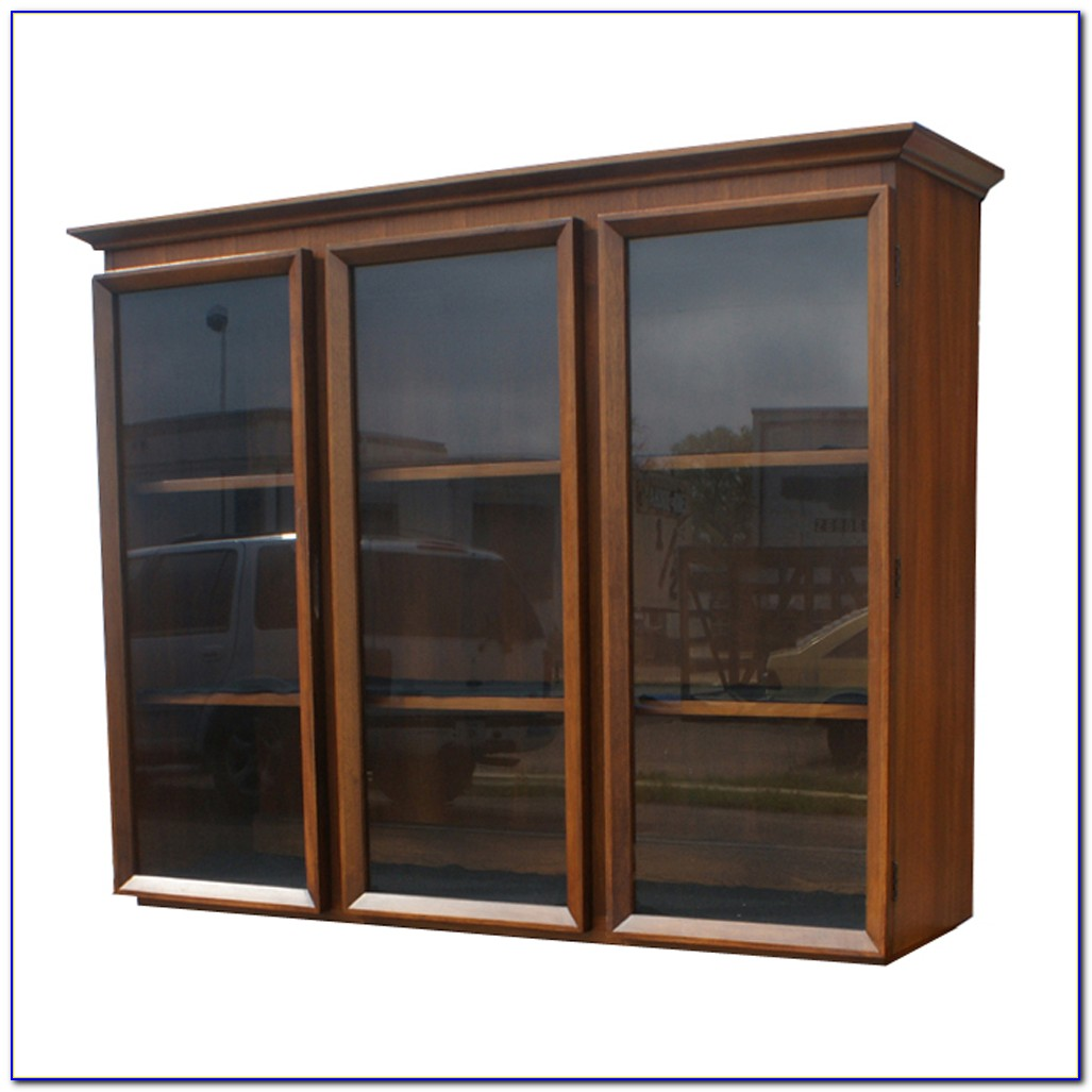 Glass Bookshelves Cabinet