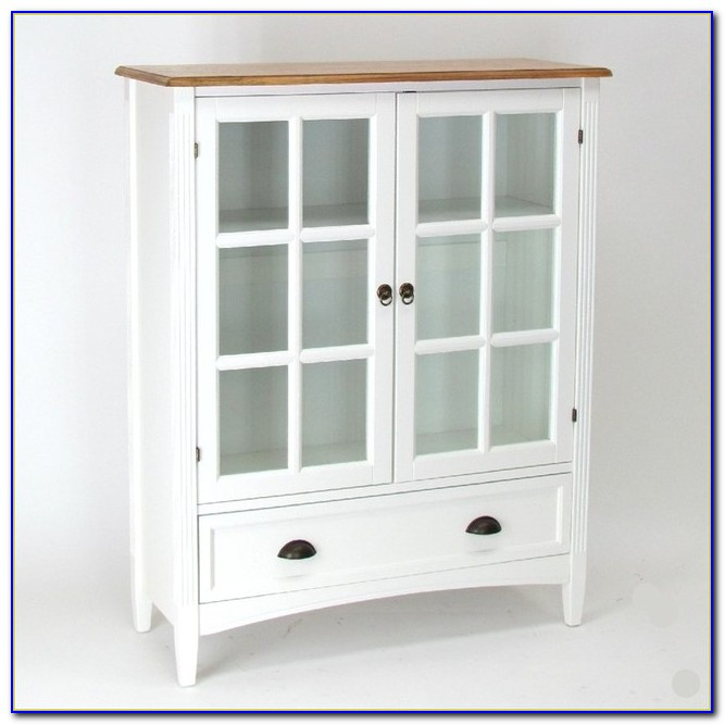 Glass Door Cabinet Bookcase