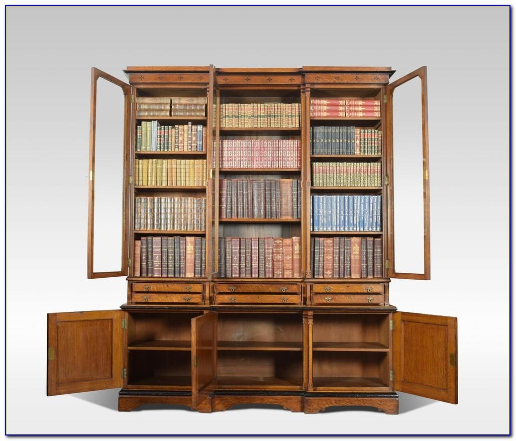 Golden Oak Bookshelves
