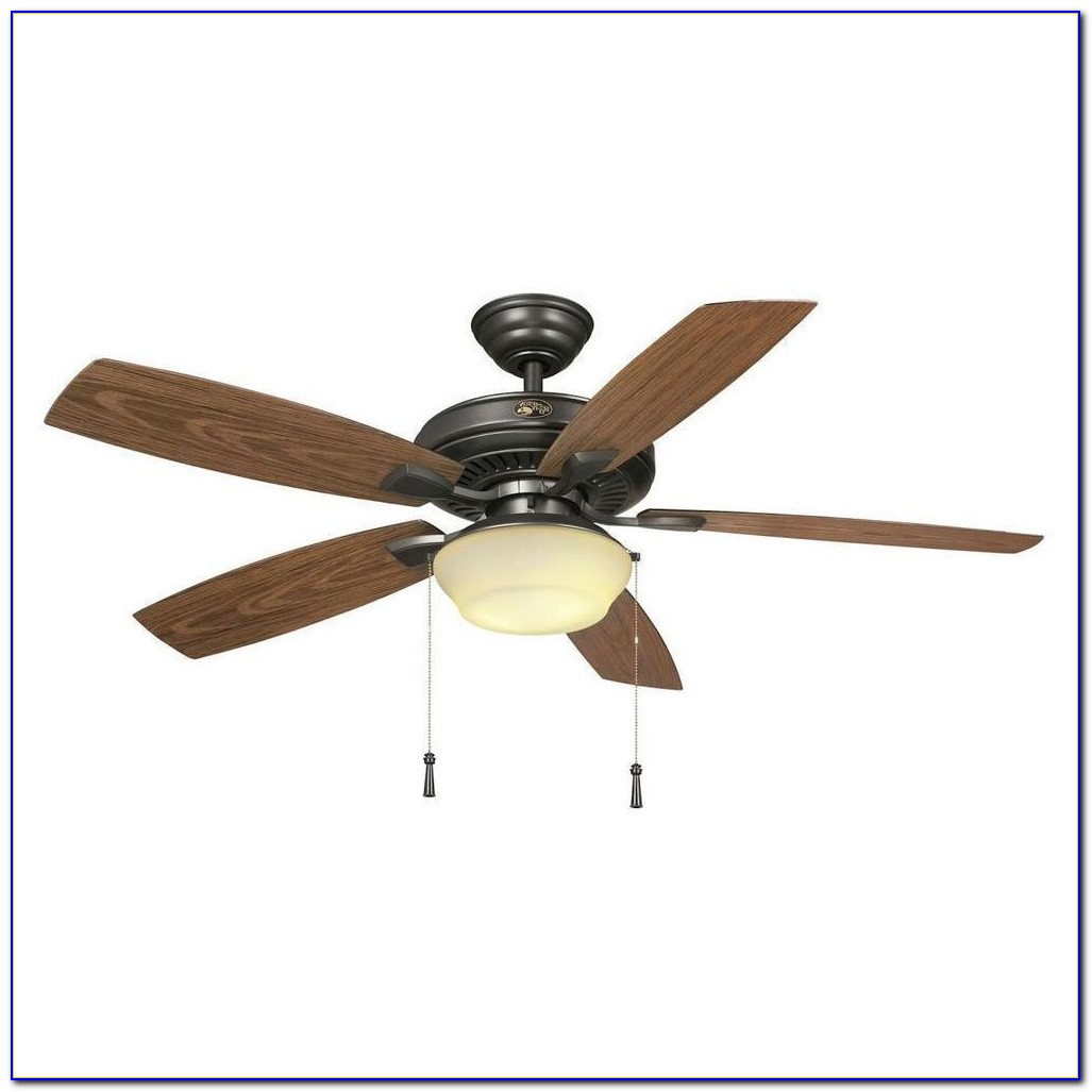 Hampton Bay Outdoor Ceiling Fan With Light