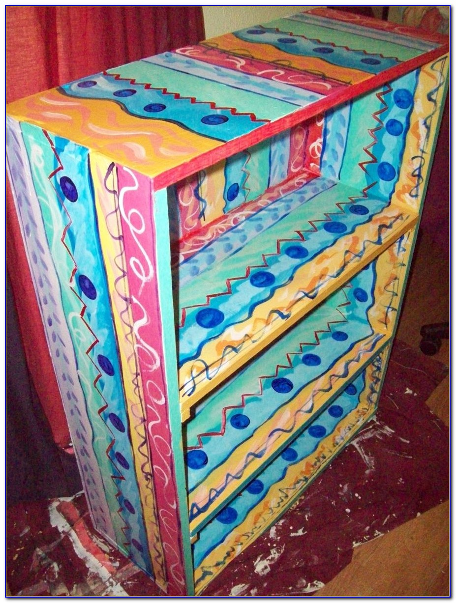 Hand Painted Small Bookcase