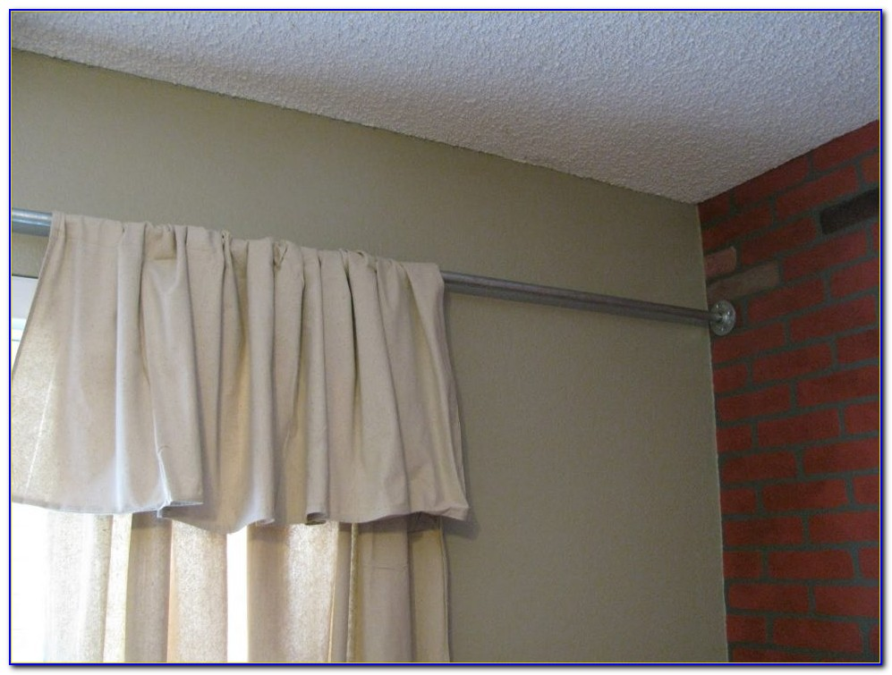 Hanging Curtains From Ceiling In Bay Window