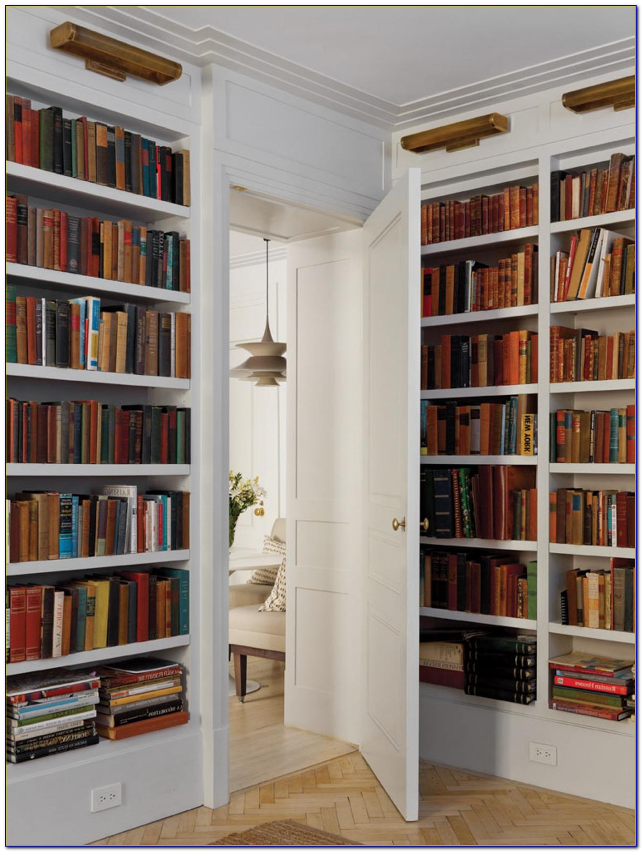 Home Library Bookcases With Ladder