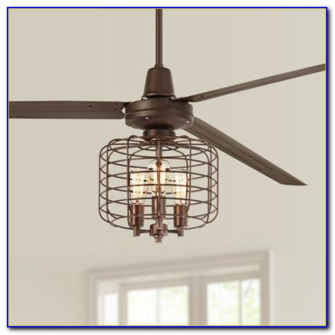 Industrial Cage Ceiling Fan Light Kit
