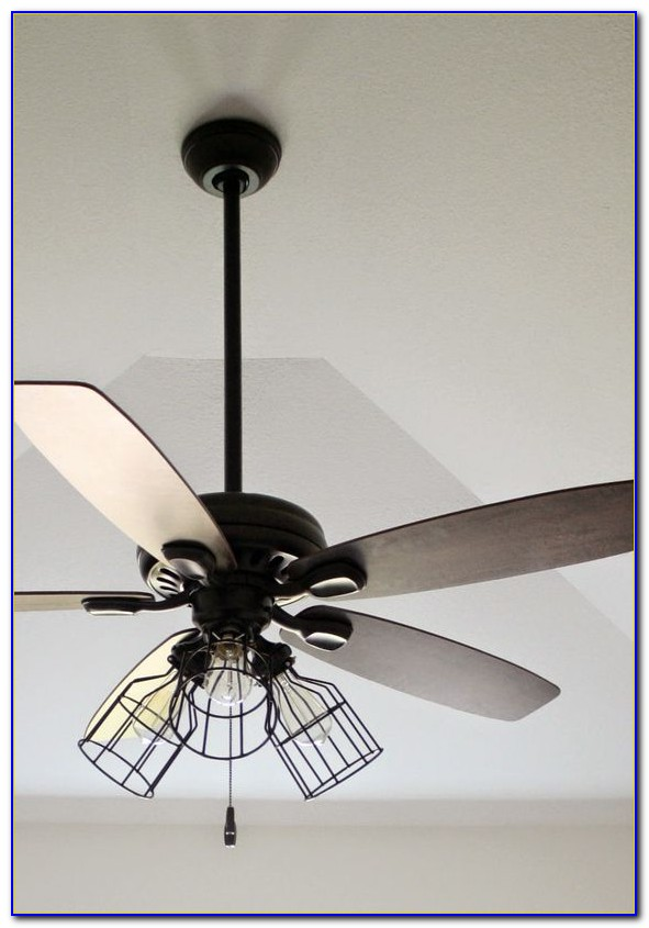 Industrial Cage Ceiling Fan With Light