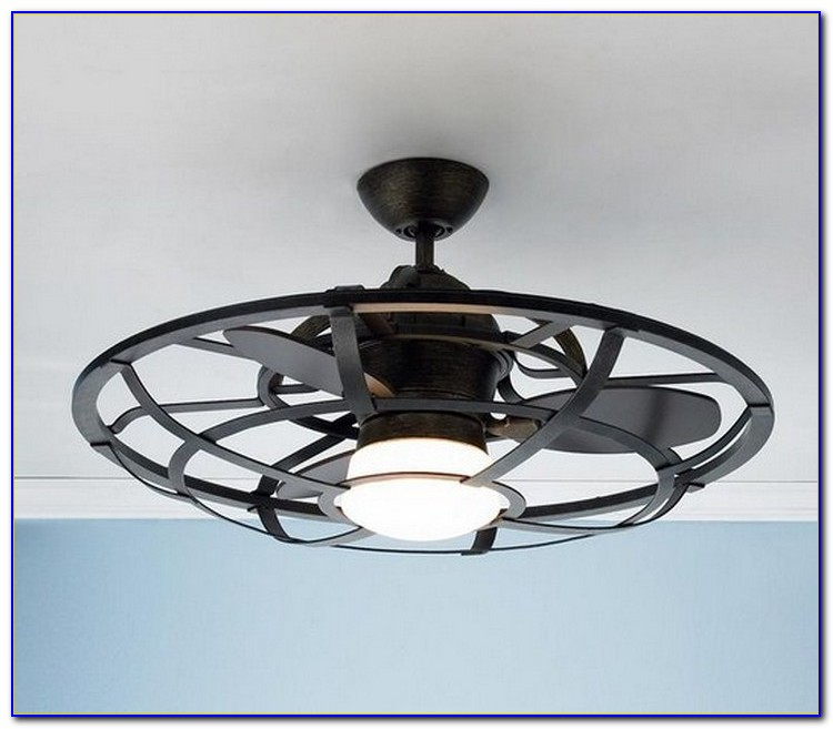Industrial Ceiling Fan With Cage