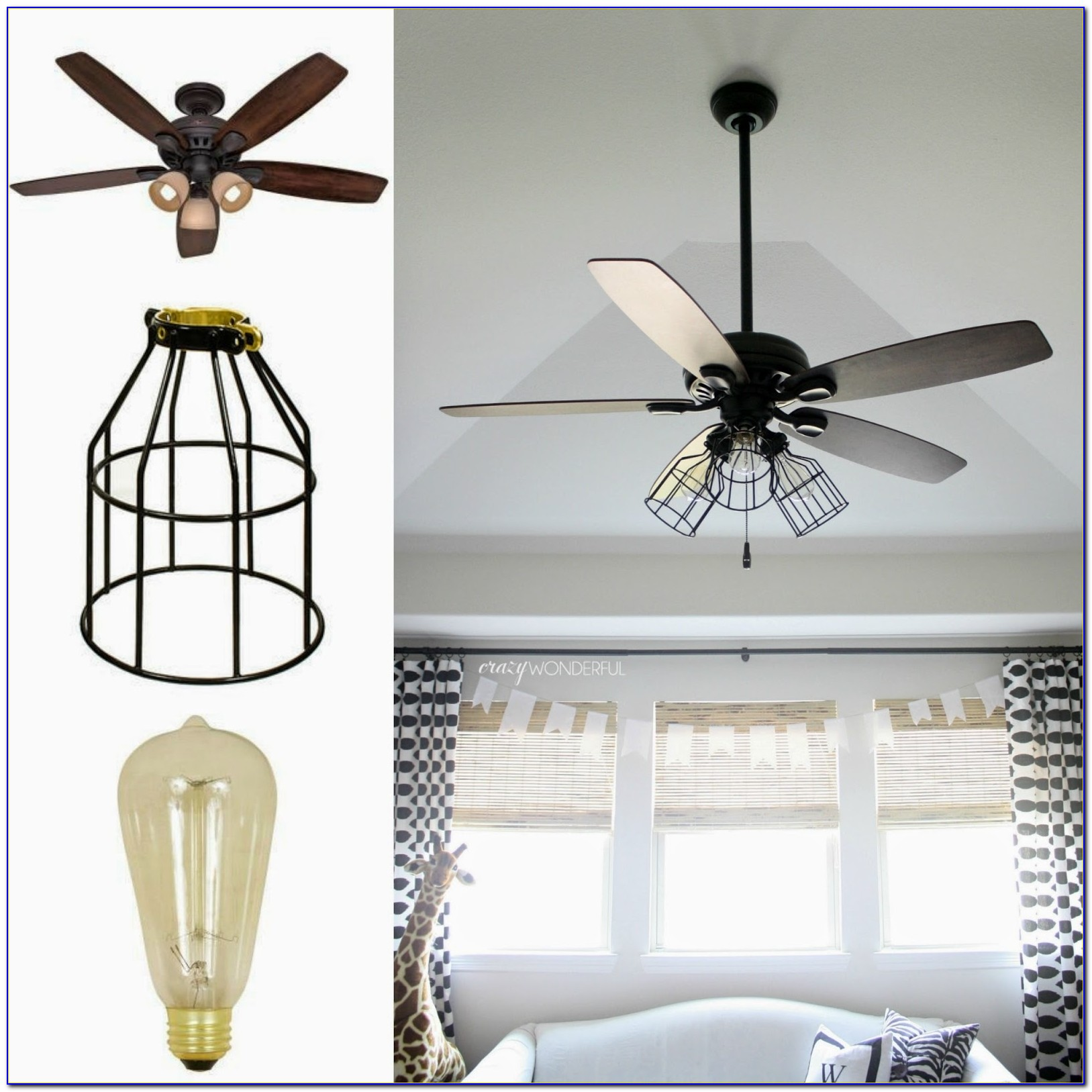 Industrial Looking Hugger Ceiling Fans