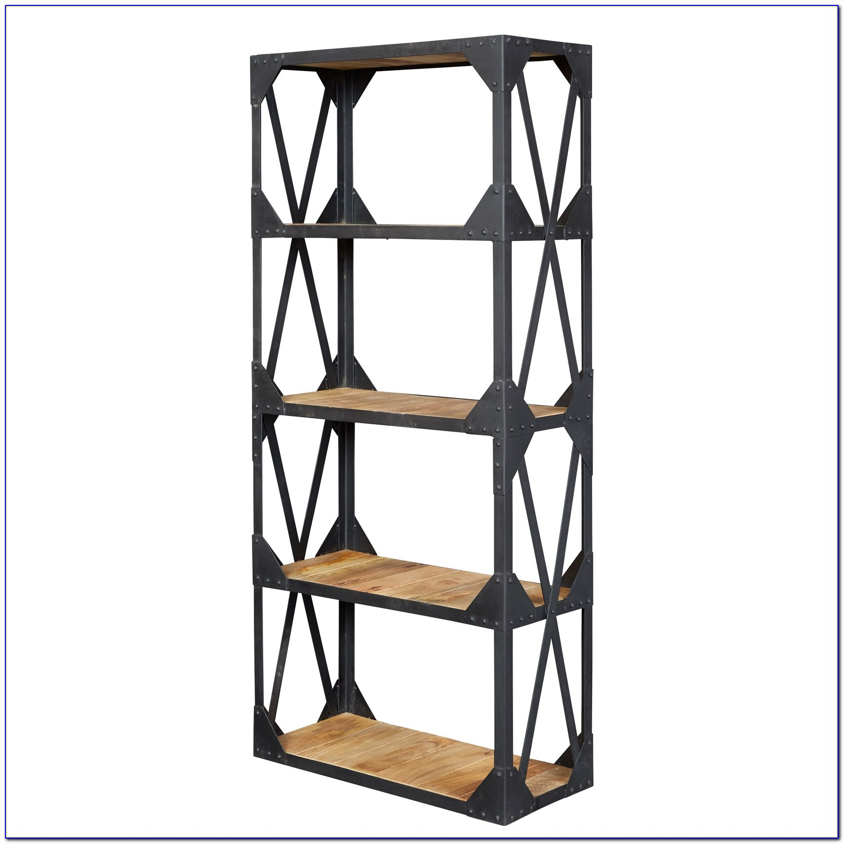 Industrial Wood Bookshelf