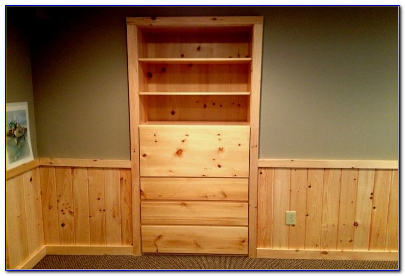 Knotty Pine Bookcase